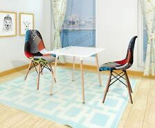 WestWood Retro Patchwork Chair Fabric Seat Vintage Home Furniture PC001 DSW X2