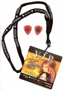FERGIE VIP Pass, Lanyard and Guitar Pick - The Dutchess Tour 2006
