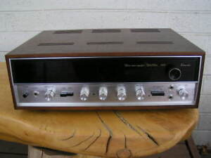 Vintage SANSUI 5000 Stereo Tuner Amplifier Solid State Receiver + Wood Case