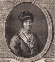 Portrait XVIIIe Antoine Houdar De La Motte Ecivain Dramaturge Poète Chorégraphe