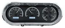 1962-65 Chevrolet Nova Chevy II Dakota Digital Black Alloy & White VHX Gauge Kit