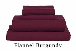 MyPillow Giza Flannel Bed Sheet Set QUEEN 4 Pc Burgundy - NEW SEALED