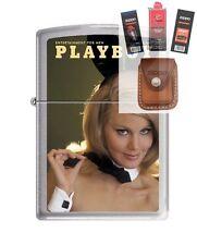 Zippo 4757 Playboy March 1967 Lighter + FUEL FLINT WICK POUCH GIFT SET