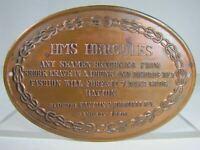 HMS HERCULES Ship Seamen Shore Leave Drunk Disorderly Forfeit Grog Vintage Sign
