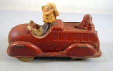 New listing Walt Disney Mickey Mouse / Donald Duck Sun Rubber Products Toy Fire Truck