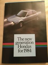 Honda Car Brochure - 1984