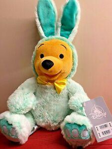 """Disney Winnie The Pooh Easter Bunny 2021 Medium 16"""" Cuddly Plush Soft Toy"""