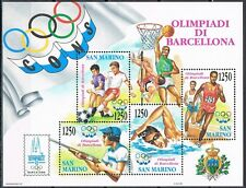San Marino blok 15 Olympische Spelen 1992 Barcelona MNH ct waarde € 7