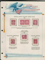 united states commemoratives series golden jubilee etc1929 stamps page ref 18270