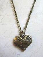 Antique Bronze Tone Heart Necklace New in Gift Bag 8th Wedding Anniversary