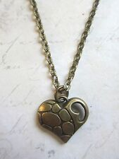 Vintage Look Antique Bronze Tone Heart Necklace New in Gift Bag Mothers Day
