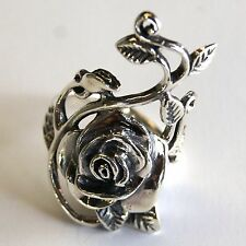BEAUTIFUL THAI ROSE FLOWER 925 STERLING SILVER RING GIFT SILVER THAILAND US=7/N