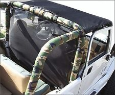 1992-1995 Jeep Wrangler Sport Bar Cover Roll Cage Pad Kit Camouflage