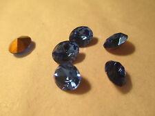 12 Swarovski Sapphire 8x10 mm Oval Crystals Rhinestones  Art 4130/2