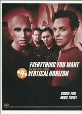 Vertical Horizon Everything you want Trade Ad Poster for self title Cd 99 Mint