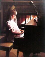 "First Recital Girl Piano Print  By Kevin Daniel 18"" x 23"""