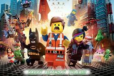 "Lego Movie 2014 Personalized Customized Glossy Poster Banner - 24""x36"""
