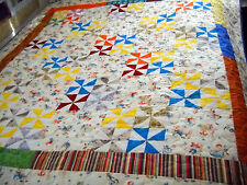 Child's Throw, Kids at Play and Pinwheels Quilt
