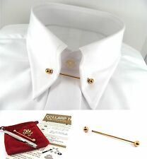 Gold Tone Collar Tie Pin Bar 46mm DIY Eyelets & Punch Kit
