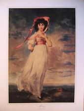 art print~PINKIE~T.Lawrence Victorian Young Girl dressed in pink vtg repro 18x24