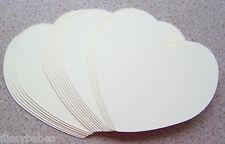 "20 x Large Heart Cutouts  4"" x 4"" Cream Textured Card NEW"