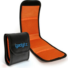 3 pocket sac pochette support stockage étui pour slr dslr camera lens filtres 43-77mm