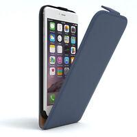 Tasche für Apple iPhone 6 / 6S Plus Flip Case Schutz Hülle Handy Cover Dunkelbla