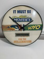 Vintage Retro McVities Millenium Promotional Wall Clock, Unique Collectors Item