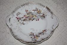 Beautiful KPM Germany Birds Floral Berries Handled Gold Trimmed Platter Plate