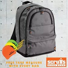 55dcd9f4a6fc Scruffs Rucksack Water Resistant Insulated Backpack Bag Laptop FREE HI-VIS  TAPE