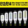 Ultra Bright 5730 Chip LED Corn Bulb Lamp Cool/Warm White E14 E12 7/12/20/25W C