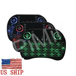 Mini 2.4G Backlight Wireless Touchpad Keyboard Air Mouse PC Pad Android TV Box