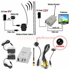 Mini Wireless TV System Nanny Micro Camera Transmitter Receiver Full Kit New USA