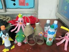 Toys for babies from recycled plastic bottles. Cute toys for babies.