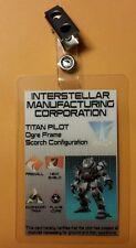 Titanfall 2 ID Badge -IMC TITAN PILOT Ogre Frame  prop cosplay costume