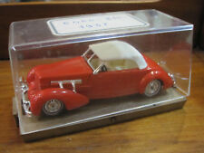 MATCHBOX MODELS OF YESTERYEAR 1937 - CORD 812- BERLINA -WITH  BOX -1/35- DIECAST