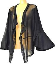 TS jacket TAKING SHAPE plus sz M / 18-20 Sunset Cardi sheer stretch mesh top NWT