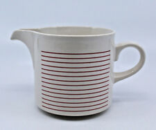Hornsea Pottery Linear Creamer Red Ring Stripes White England Retro Vintage Rare