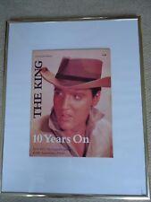 ELVIS PRESLEY THE KING 10 YEARS ON TRIBUTE PROGRAM ORIGINAL1987 VINTAGE30YRS OLD