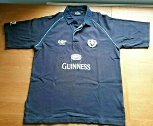 Scotland Guinness Rugby Shirt  Size Large Black Cotton Traders 6 nations