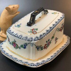 Antique LOSOL WARE Bristol Porcelain Cheese Dish & Cover, Keeling & Co Ltd Eng