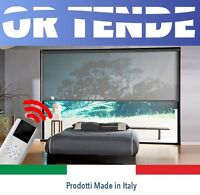 Tenda a Rullo MOTORIZZATA Filtrante tessuto Screen SU MISURA Tende Day and Night