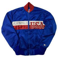 New ListingVintage 80s Starter Usa Olympic Team Jacket Mens Medium Satin Bomber Made Usa