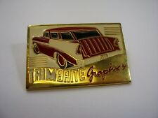 Vintage Collectible Pin: TRIMBRITE Graphics Classic Car Design