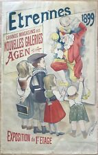 PHILIPPE CHAPELLIER AFFICHE 1899 GRANDS MAGASINS AGEN ORIGINAL FRENCH POSTER