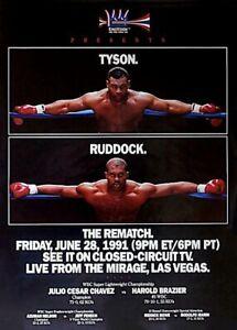 MIKE TYSON vs RAZOR RUDDOCK 8X10 PHOTO BOXING POSTER PICTURE