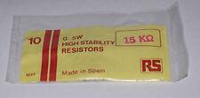 Piher 15K 5% 1/2W Carbone Film Résistances-Scellé Sac RS Components - 10 pièces