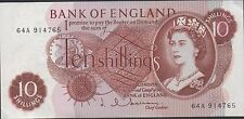 Great Britain 10 /-  1960's P 373b Series 64A  almost Uncirculated Banknote