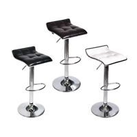 Set Of 2/3/4 Bar Stools PU Leather Adjustable Hydraulic Swivel Pub Dining Chair