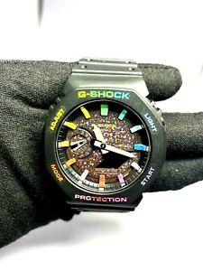 "Brand New Casio G-Shock Watch GA-2100 ""Galaxy Rainbow Limited Edition"" Casioak"